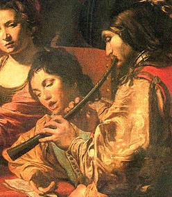 cornettplayer with singer