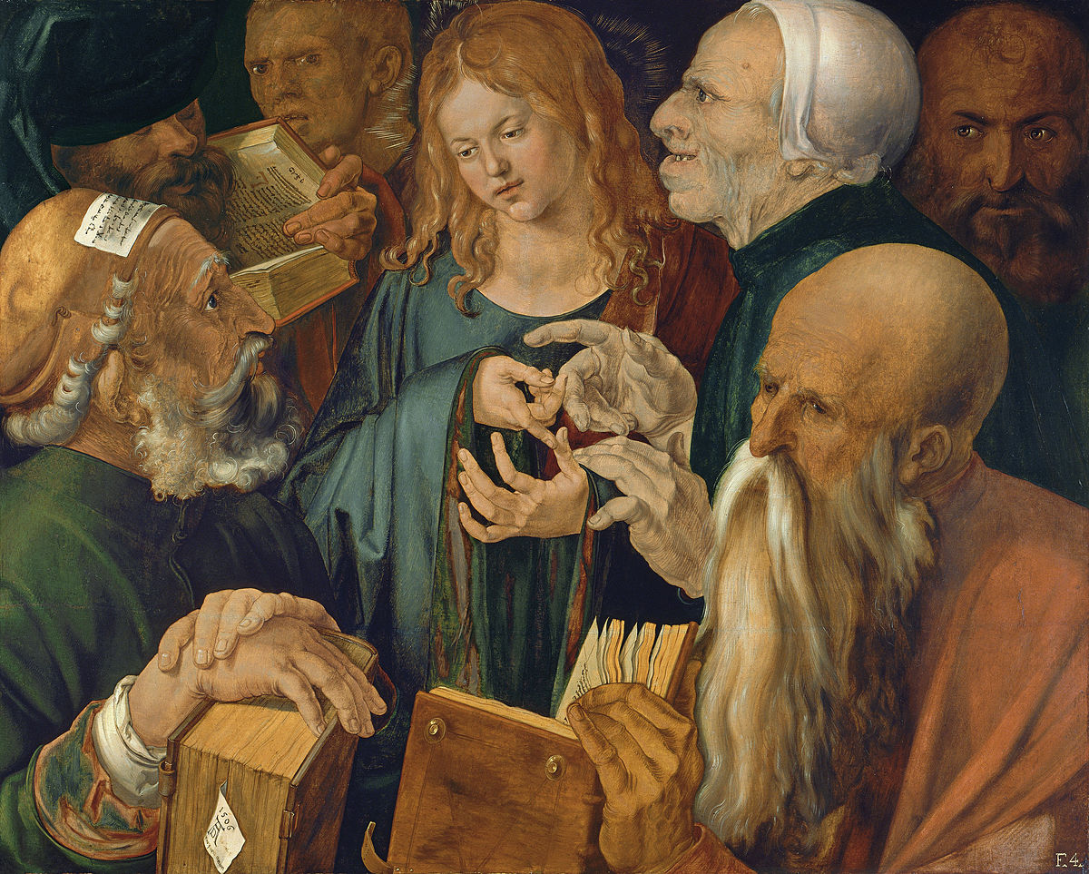 Dürer Jesus among the Doctors