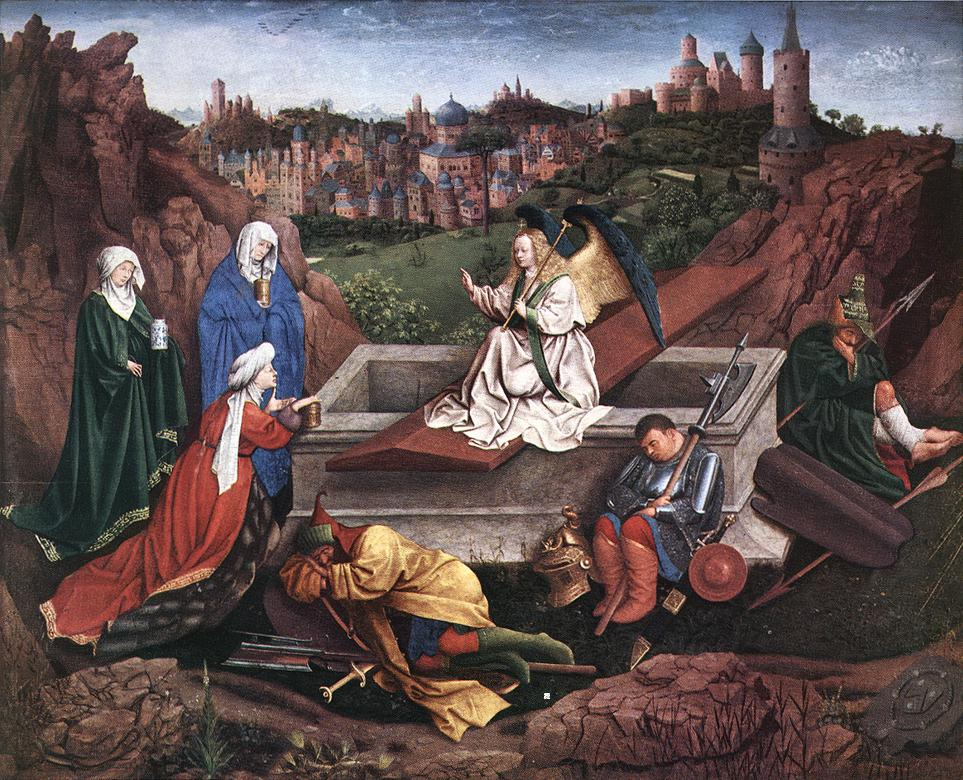 hubert_van_eyck_-_the_three_marys_at_the_tomb_-_wga7586
